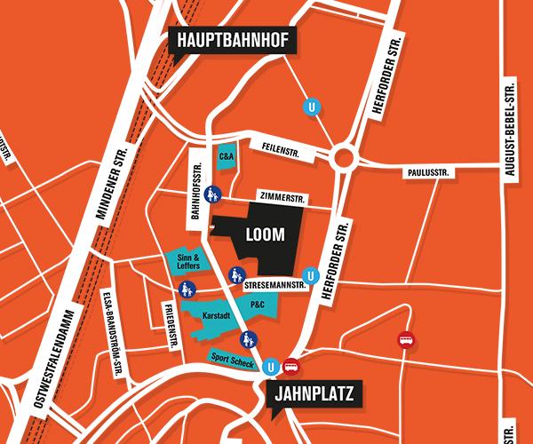 Zentral gelegen und optimal zu erreichen - LOOM Bielefeld